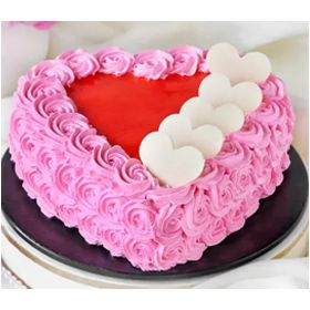 Rosette Cake with Hearts